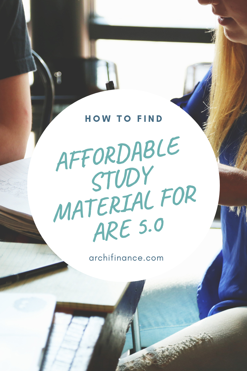 How to find affordable study material for ARE 5.0